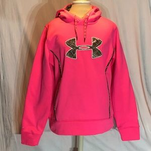 Under Armour Hot Pink Cold Gear Sweatshirt Hoodie